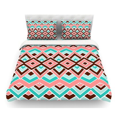 Eclectic by Pom Graphic Design Featherweight Duvet Cover Size: Queen