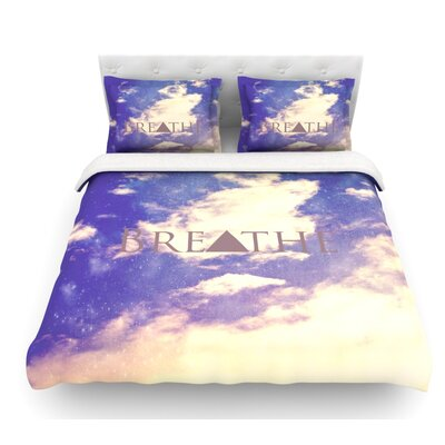 Breathe by Rachel Burbee Featherweight Duvet Cover Size: Twin