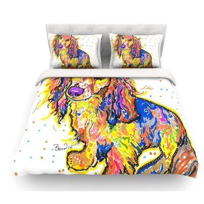 Leela by Rebecca Fischer Daschund Featherweight Duvet Cover Size: Queen