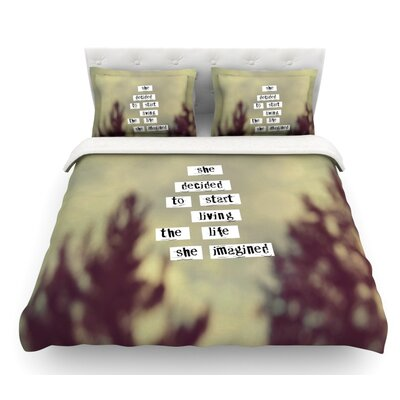 Her Life by Rachel Burbee Featherweight Duvet Cover Size: King