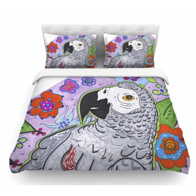 Rio by Rebecca Fischer Parrot Featherweight Duvet Cover Size: Twin