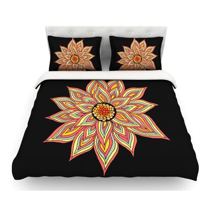 Incandescent Flower by Pom Graphic Design Featherweight Duvet Cover Size: King