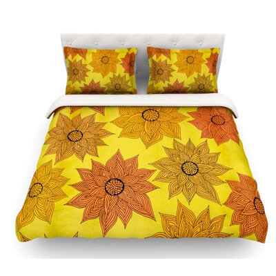 Its Raining Flowers by Pom Graphic Design Featherweight Duvet Cover Size: King
