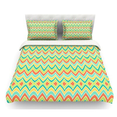 Bright and Bold by Pom Graphic Design Featherweight Duvet Cover Size: Queen