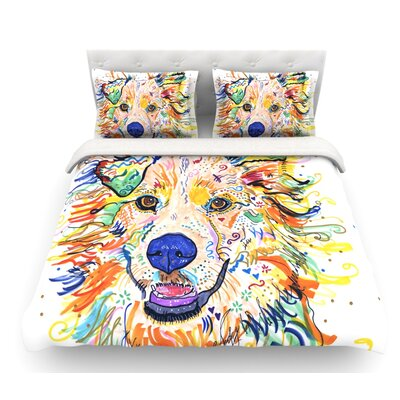Jess by Rebecca Fischer Featherweight Duvet Cover Size: Queen