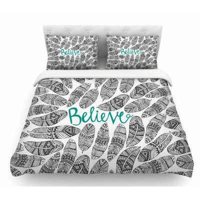 Believe by Pom Graphic Design Featherweight Duvet Cover Size: Twin