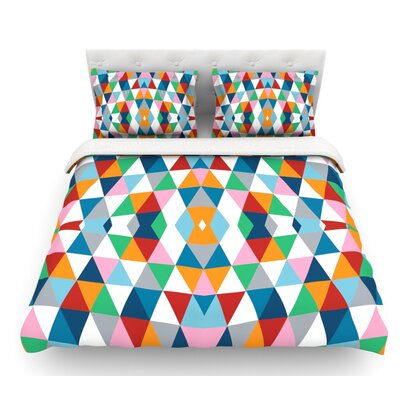 Geometric by Project M Featherweight Duvet Cover Size: King