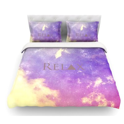 Relax by Rachel Burbee Featherweight Duvet Cover Size: Queen