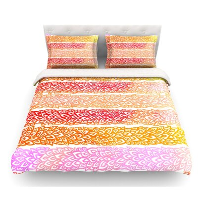 Leafs from Paradise by Pom Graphic Design Featherweight Duvet Cover Size: King