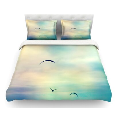 Freedom by Sylvia Cook Birds and Sky Featherweight Duvet Cover Size: Twin