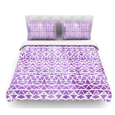 Tribal Mosaic by Pom Graphic Design Featherweight Duvet Cover Size: Queen