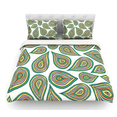 Its Raining Leaves by Pom Graphic Design Featherweight Duvet Cover Size: Twin