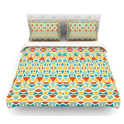 Tribal Imagination by Pom Graphic Design Featherweight Duvet Cover Size: Twin