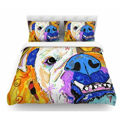 Tucker by Rebecca Fischer Bull Dog Featherweight Duvet Cover Size: Queen