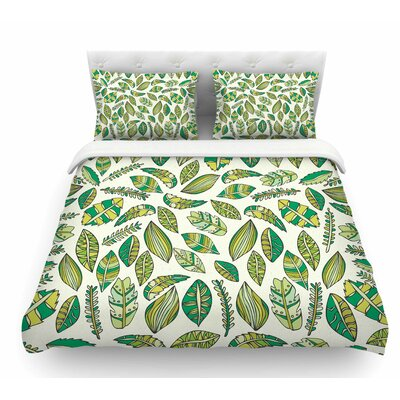 Tropical Botanicals by Pom Graphic Design Nature Featherweight Duvet Cover Size: King