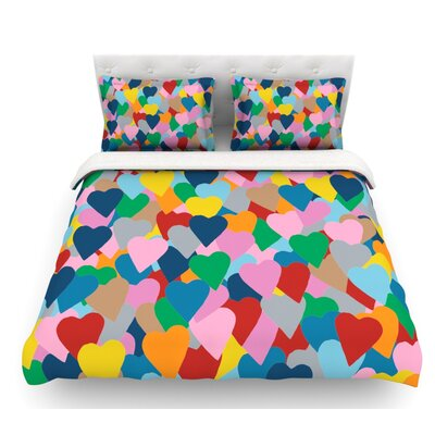 More Hearts by Project M Featherweight Duvet Cover Size: Twin