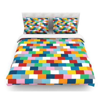 Bricks by Project M Featherweight Duvet Cover Size: King