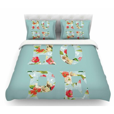 Hope by Suzanne Carter Floral Featherweight Duvet Cover Size: Twin