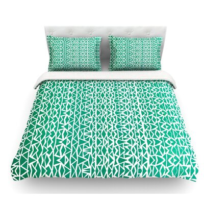 Tribal Forrest by Pom Graphic Design Featherweight Duvet Cover Size: King