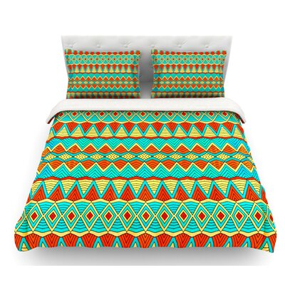 Tribal Soul by Pom Graphic Design Featherweight Duvet Cover Size: Twin