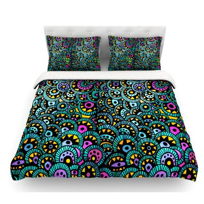 Peacock Tail by Pom Graphic Design Featherweight Duvet Cover Size: King
