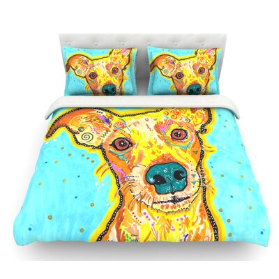 Tanner by Rebecca Fischer Terrier Featherweight Duvet Cover Size: Queen