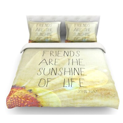 Friends and Sunshine by Rachel Burbee Featherweight Duvet Cover Size: Twin