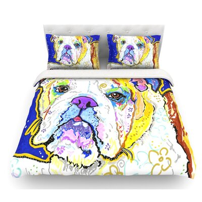 Mavis by Rebecca Fischer Bull Dog Featherweight Duvet Cover Size: Queen