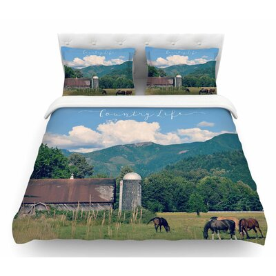 Country Life by Robin Dickinson Featherweight Duvet Cover Size: Queen