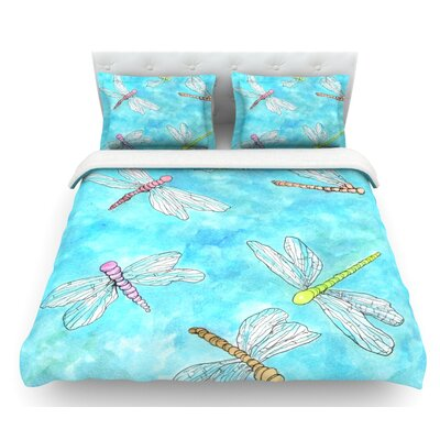 Dragonfly by Rosie Brown Featherweight Duvet Cover Size: Twin