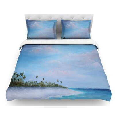 Carefree Carribean by Rosie Brown Featherweight Duvet Cover Size: Twin