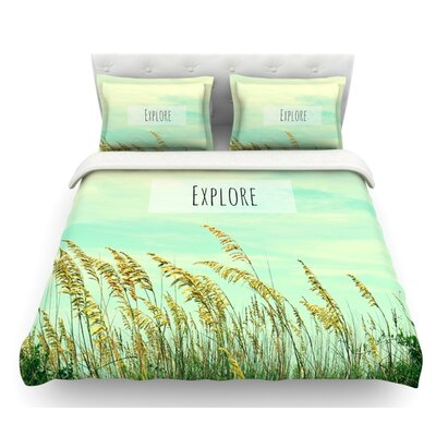Explore by Robin Dickinson Quote Featherweight Duvet Cover Size: Queen