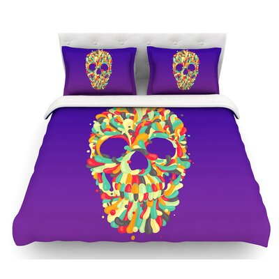 Jelly Skull by Roberlan Featherweight Duvet Cover Size: Queen