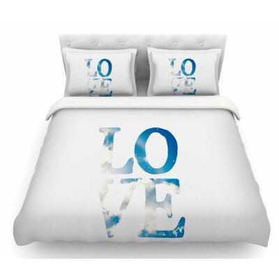 Love by Robin Dickinson Cloud Featherweight Duvet Cover Size: King