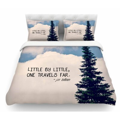 Little by Little by Robin Dickinson Clouds Featherweight Duvet Cover Size: King