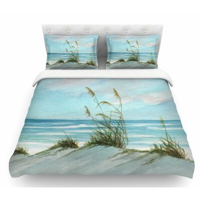 Sea Oats by Rosie Brown Featherweight Duvet Cover Size: Queen