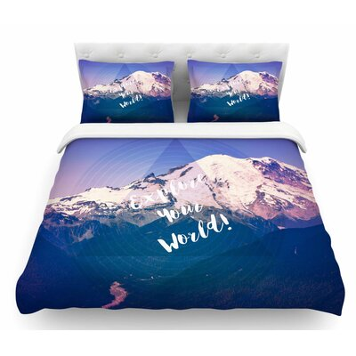 Explore Your World! by Robin Dickinson Featherweight Duvet Cover Size: Queen