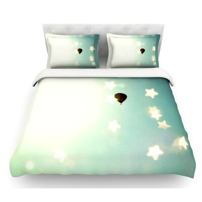 Amongst the Stars by Robin Dickinson Stars Featherweight Duvet Cover Size: Queen