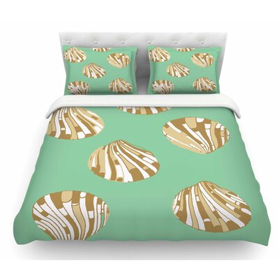 Scallop Shells by Rosie Brown Featherweight Duvet Cover Size: Queen