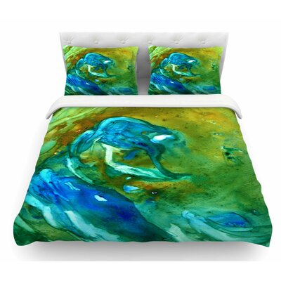 Hurricane by Rosie Brown Featherweight Duvet Cover Size: Twin