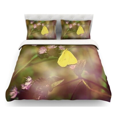 Butterfly Kisses by Robin Dickinson Featherweight Duvet Cover Size: Queen