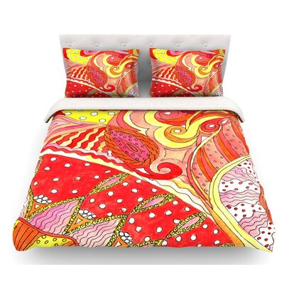 Swirls by Rosie Brown Featherweight Duvet Cover Size: Twin