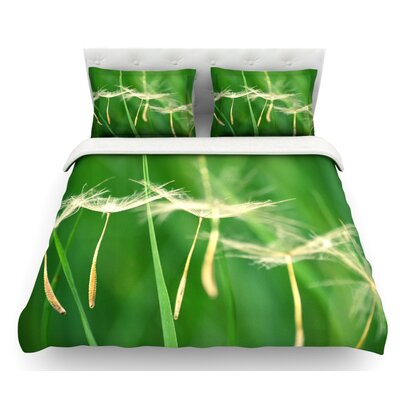 Best Wishes by Robin Dickinson Flower Featherweight Duvet Cover Size: Twin