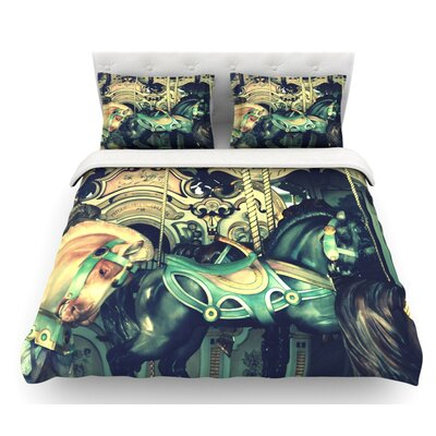 Carousel by Robin Dickinson Horse Featherweight Duvet Cover Size: King