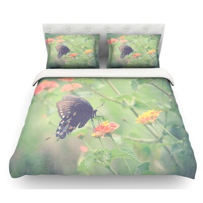 Captivating II by Robin Dickinson Flower Featherweight Duvet Cover Size: King