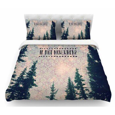 If Not Now, When? by Robin Dickinson Tree Featherweight Duvet Cover Size: Twin