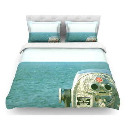 Ocean View by Robin Dickinson Ocean Featherweight Duvet Cover Size: King