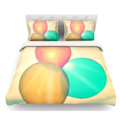Balloons by Robin Dickinson Clouds Featherweight Duvet Cover Size: King