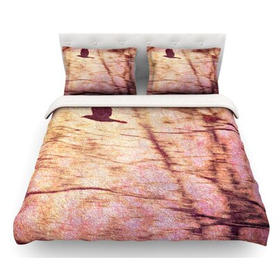Midnight Dreary by Robin Dickinson Tree Featherweight Duvet Cover Size: Queen