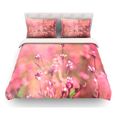 Its a Sweet Sweet Life by Robin Dickinson Flowers Featherweight Duvet Cover Size: Queen